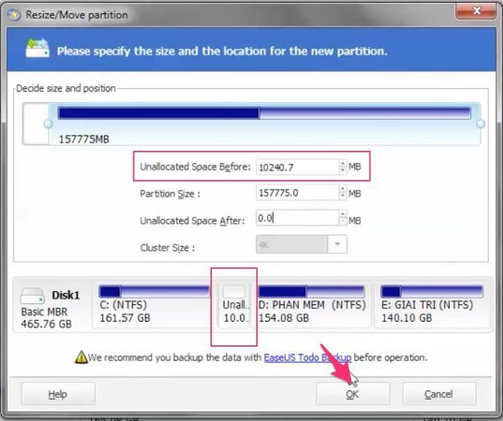 Thủ thuật tăng dung lượng ổ C trên Windows