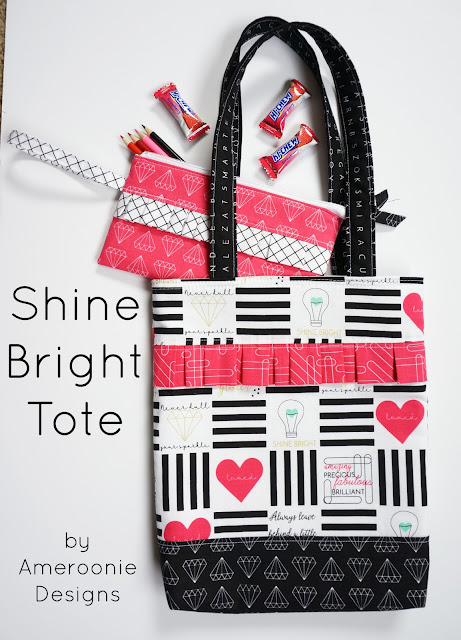 Shine Bright fabric tote