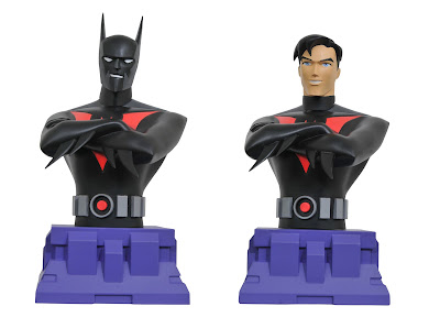 San Diego Comic-Con 2017 Exclusive Batman Beyond Resin Busts by Diamond Select Toys - Regular & Unmasked Editions