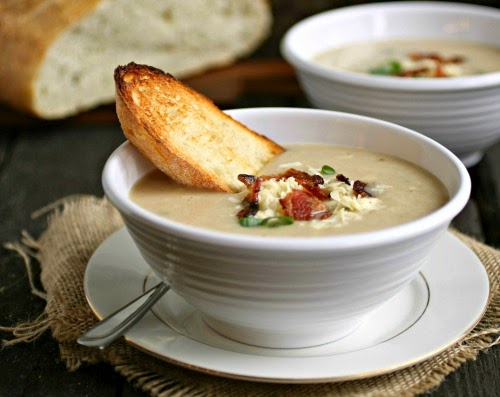 Roasted Cauliflower and Gruyere Soup