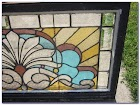 Stained GLASS Transom WINDOWS For Sale