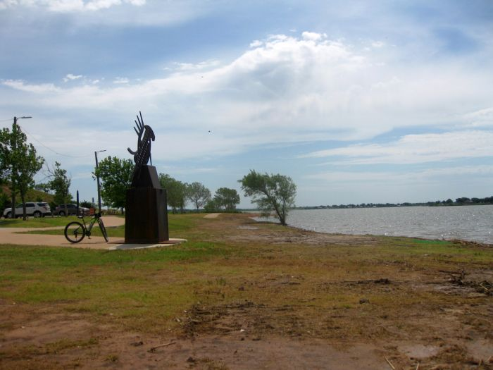 A Week Or So Ago I Was Rolling Wheels To Lake Wichita See Caterpillar Dredging Sludge Finding Myself Perplexed Wondering Why Piece Of