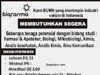 Lowongan Kerja PT. Bio Farma (Persero) November 2016
