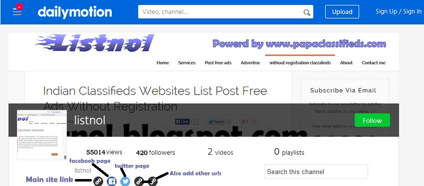 All top video websites list for free video upload and share