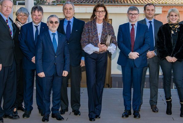 Princess Caroline chaired the Board Meeting of the partnership between the Scientific Center of Monaco and the company Chanel