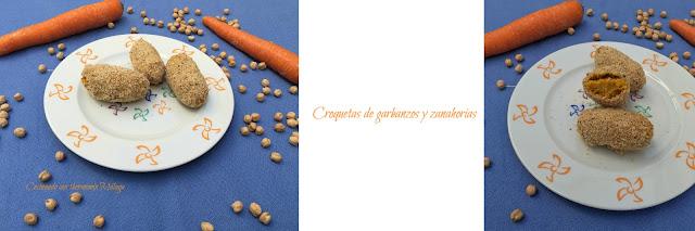Croquetas de garbanzos y zanahoria
