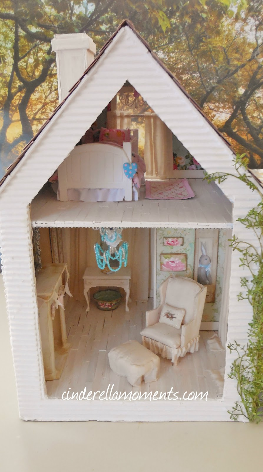 Cinderella Moments Baleine Beach Cottage Dollhouse Finished