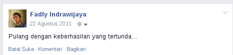 Status fb: Gagal kopdar