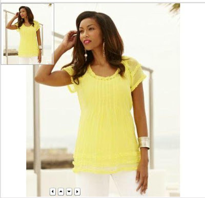 bright yellow plus size short sleeve top