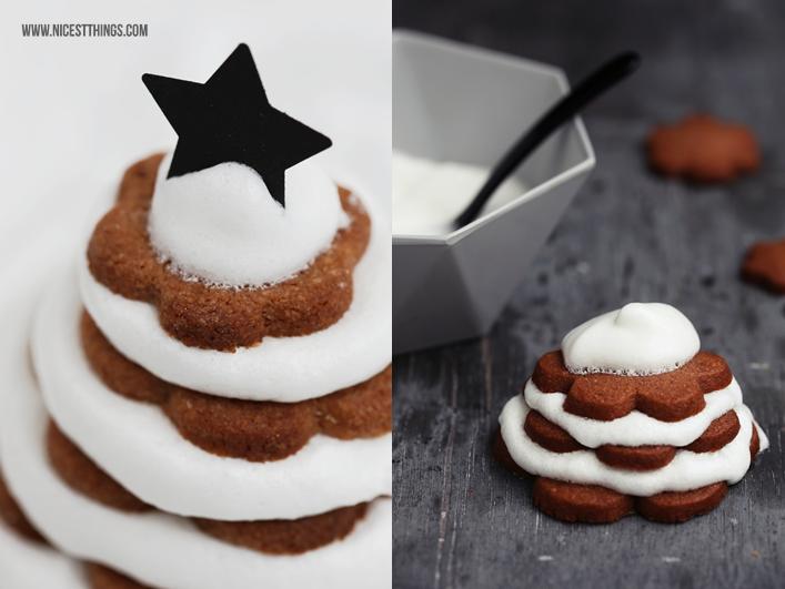 Weihnachts Plätzchen Rezept Keksbäumchen mit Zimt