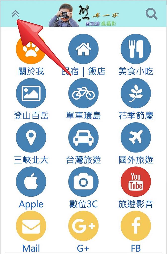 熊本一家網站快速導覽簡圖|含行動版導覽