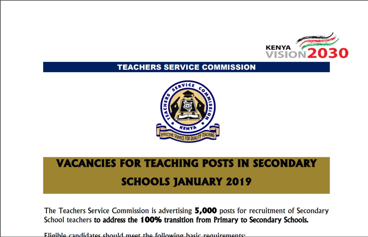 You Only Have 7 Days To TSC's 5000 Teacher Deadline. Apply