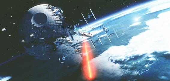 La estrella de la muerte. La guerra de las galaxias