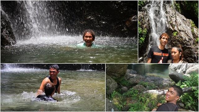 Swimming at Mampueng Falls