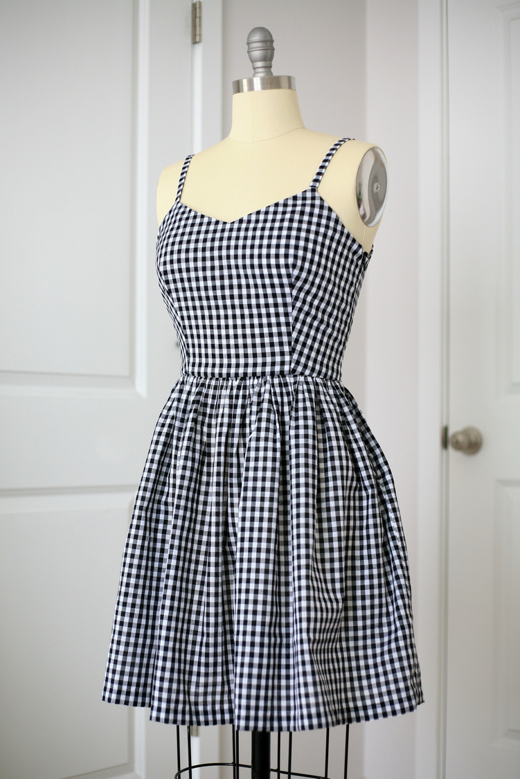 5770e09fcdd Black and white gingham fit-and-flare dress   Create   Enjoy