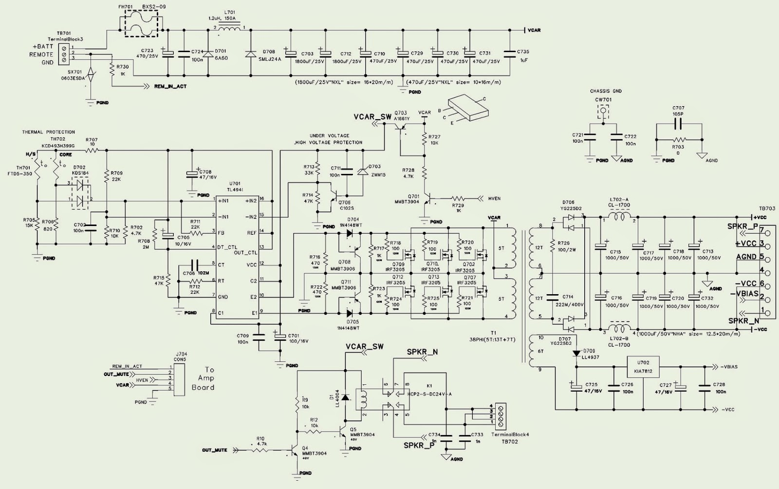 Smps Schematic Diagram 2007 Ford F150 Trailer Plug Wiring Various Jbl Ms A5001 Power Amplifier