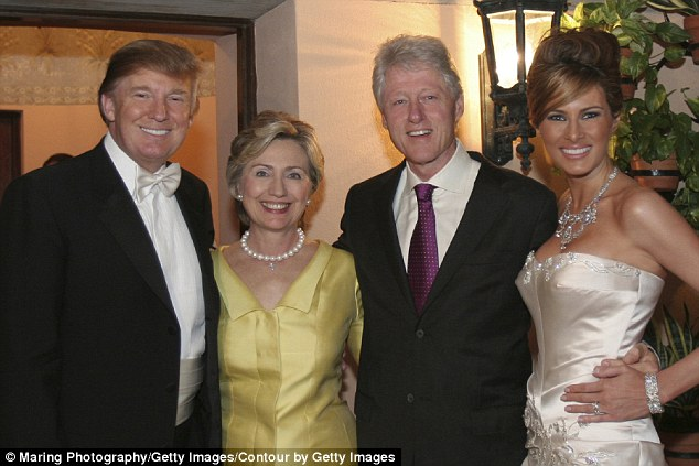 clintons at trumps wedding