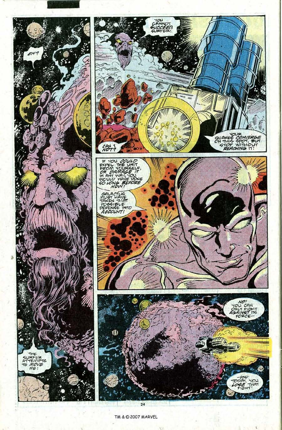 Read online Silver Surfer (1987) comic -  Issue #22 - 26