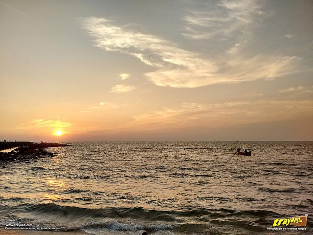 An evening at Panambur Beach, in Mangaluru