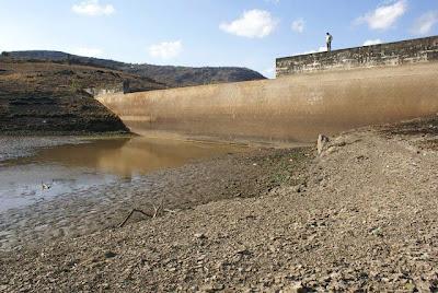 Barragem que abastece a cidade de Panelas-PE