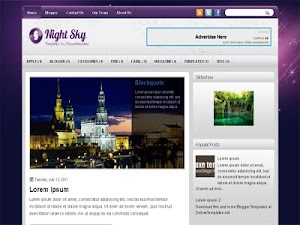 Nightsky Blogger Template