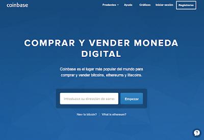 Sitio web de Coinbase