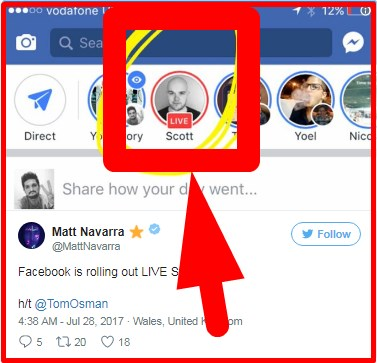 Facebook tests 'going live' from Facebook Camera, Live Stories like Instagram