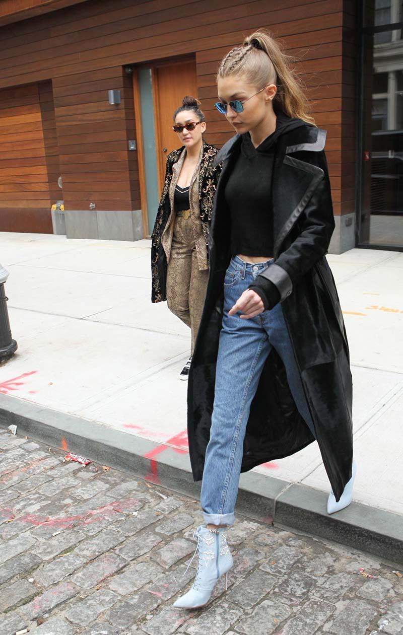 Gigi Hadid, à New-York, le 8 décembre 2016