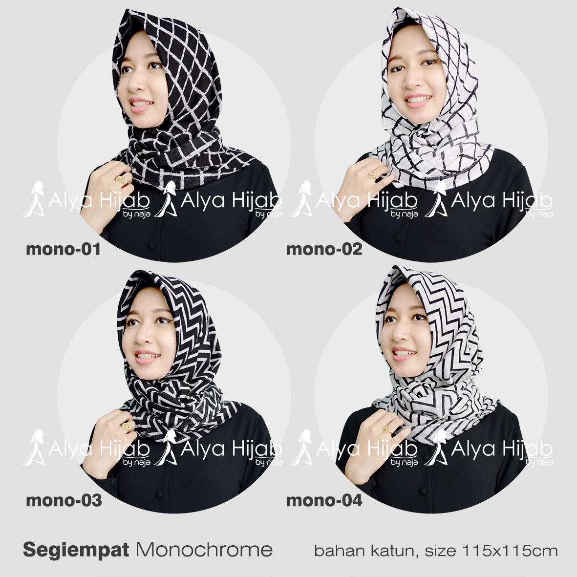87 Gambar Lengkap Tutorial Hijab Segi Empat Bermotif Paling