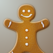 Illustrate a Gingerbread Man