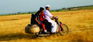 The Children/kids take a bike ride en route to Goa, journey to meet their grandmother, in Barefoot to Goa, Directed by Praveen Morchhale