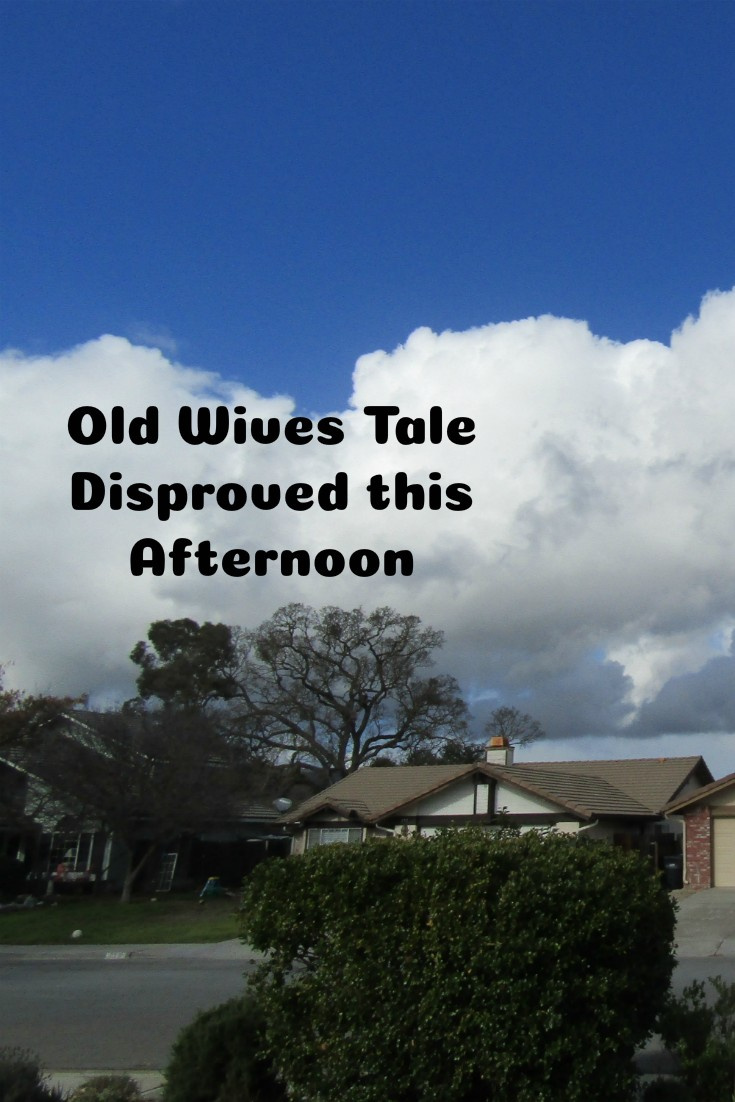 Old Wives Tale Disproved this Afternoon