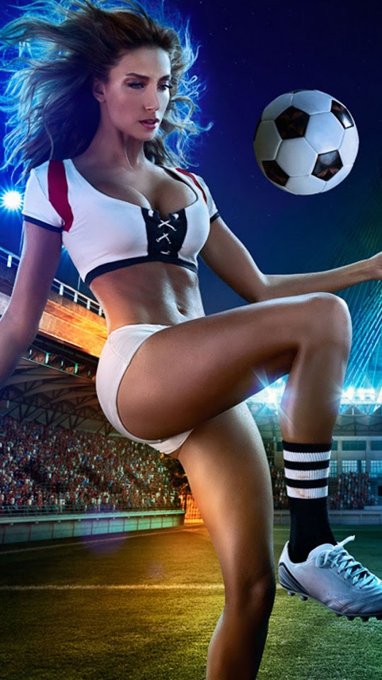 Football Girl White Jersey   Galaxy Note HD Wallpaper