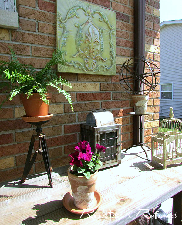 Spring decorating ideas on the patio