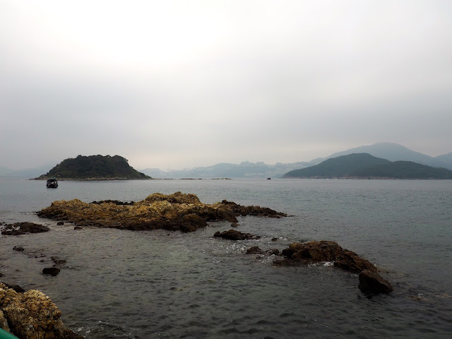 Ocean view from Kiu Tsui pier on Sharp Island, Hong Kong