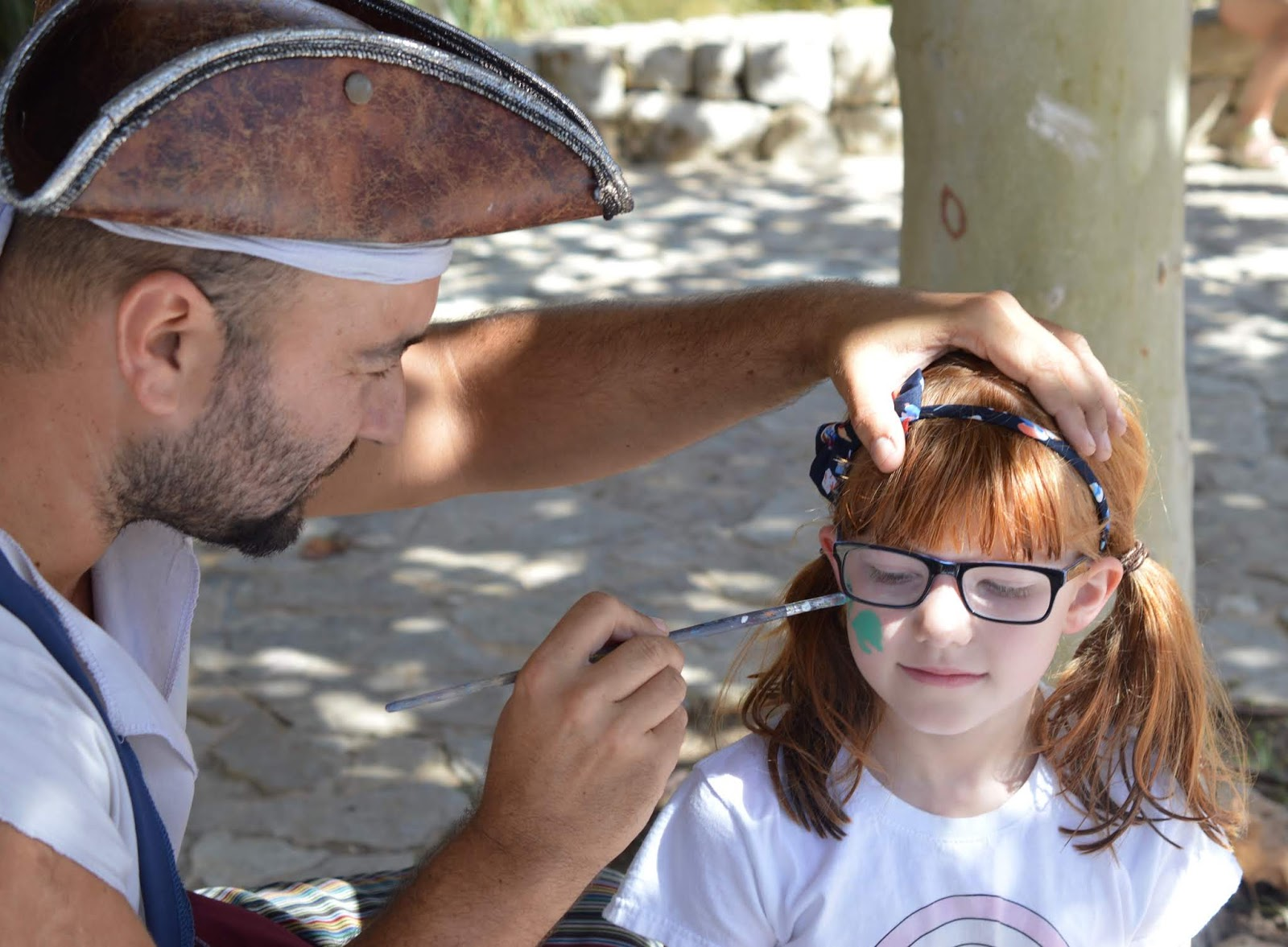 Visiting Palma Aquarium from Santa Ponsa  - free face painting