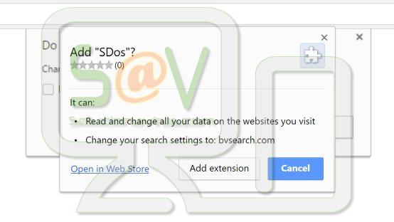 SDos (Falsa extensión de Chrome)