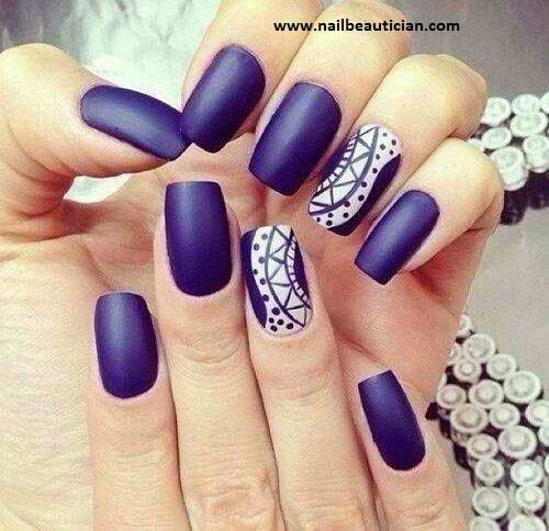 perfect blue nail art design