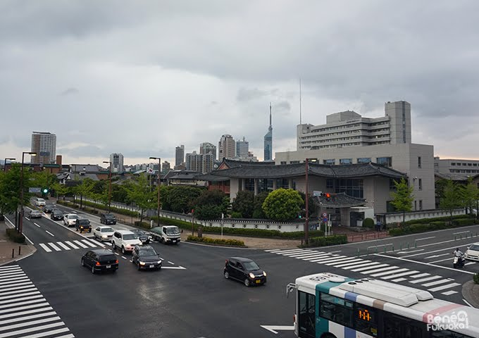 Fukuoka under the clouds