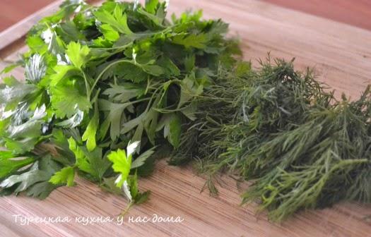 кабачки с зеленью