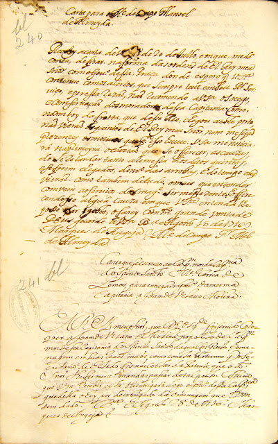 Carta compilada, 28/08/1726. Acervo Arquivo Nacional.