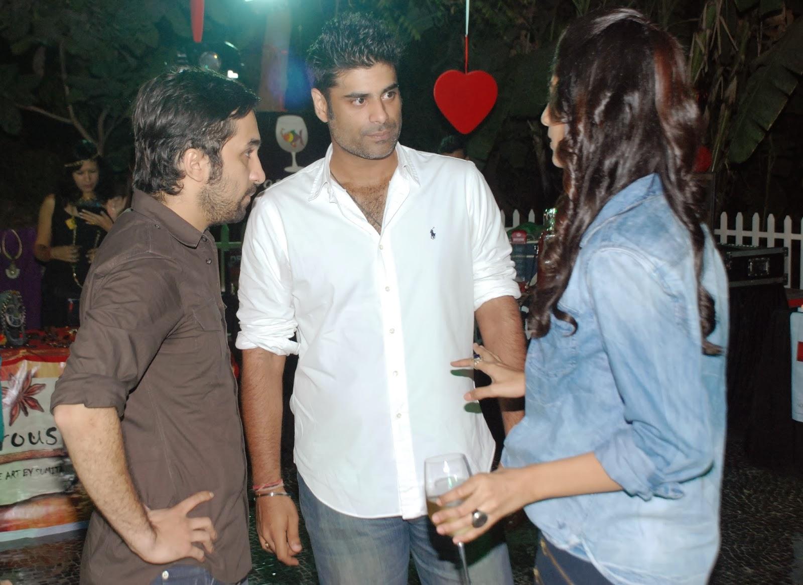 Siddhant Kapoor, Sikander Kher, Erika Packard at Villa 69