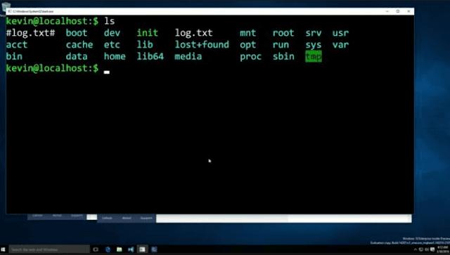 مايكروسوفت توفر سطر أوامر لينكس إلي ويندوز10