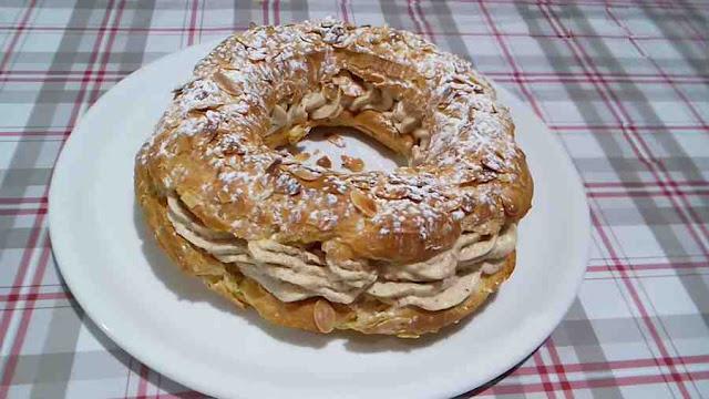 paris brest pâte à chou crème parlinée noisette amandes
