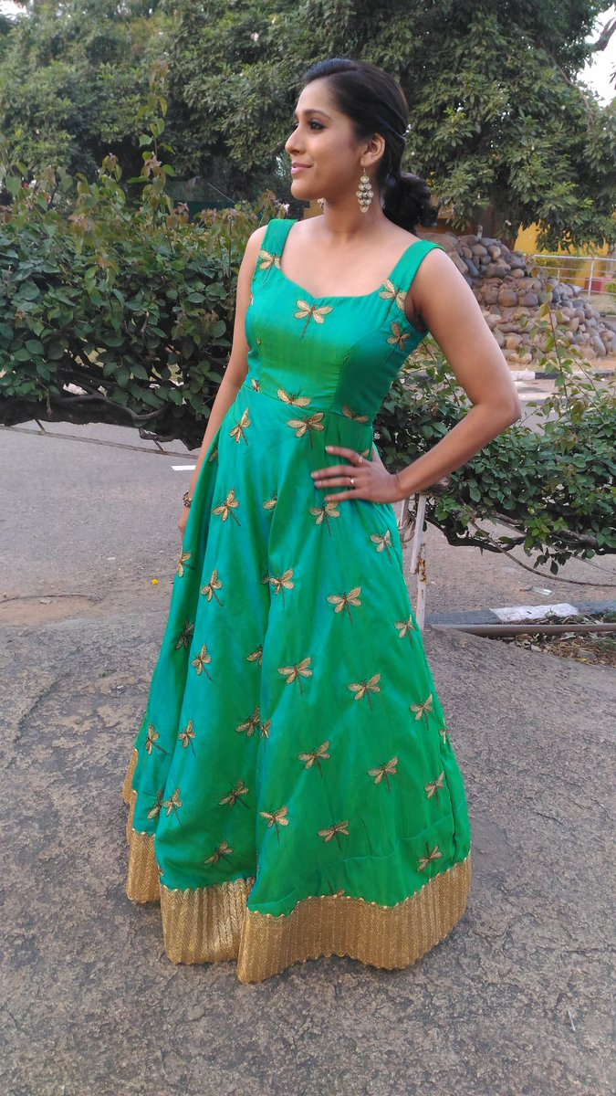 Rashmi Gautam Tv Show New Hot Green Dress