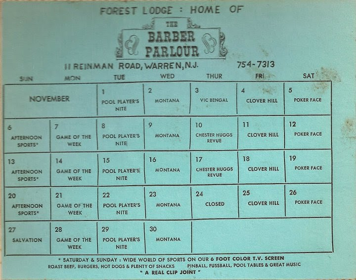 Forest Lodge band line up ad
