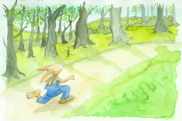 Kinderbuchillustration, children's book illustration, bunny, rabbit, Hase