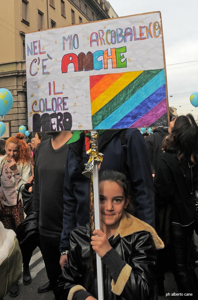 Milano, manifestazione antirazzista