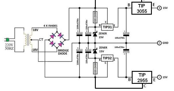 cara menambah amper power supply simetris tip31 dan tip32