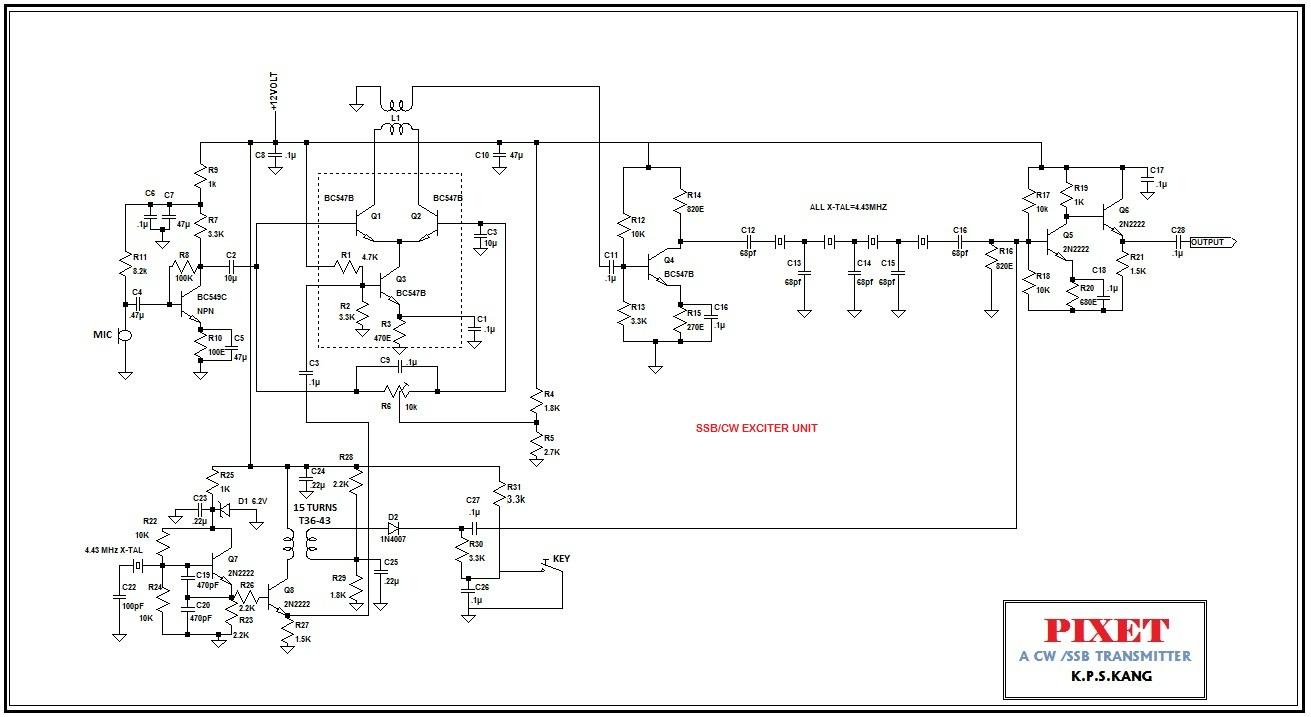 Simple Ssb Transmitter Wiring Diagrams Am Modulator Circuit Small Wonder Qrp Pixet An H F Cw I Rh Smallwonderqrp Blogspot Com Amplitude Modulation